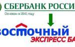 Как оплатить кредит в Восточном Экспресс Банке через карту Сбербанка