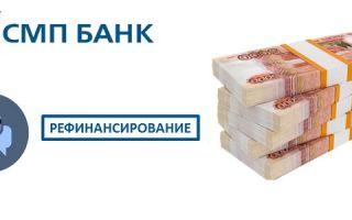 Отзывы о рефинансировании в СМП Банке