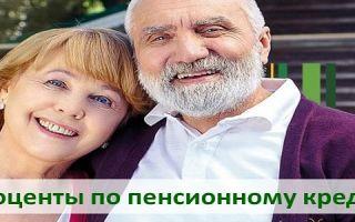 Проценты по пенсионному кредиту в Россельхозбанке