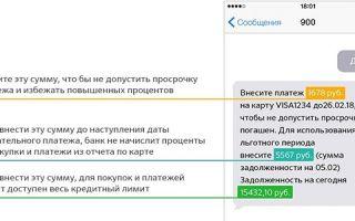 Как проверить задолженность по кредитке Сбербанка по СМС
