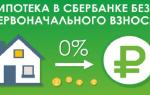 Кредит на покупку квартиры без первоначального взноса в Сбербанке
