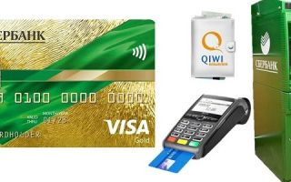 Пополнение счета кредитной карты Сбербанка