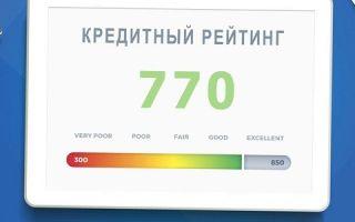 Что показывает кредитный рейтинг?
