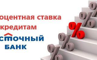 Процентная ставка по кредиту в Восточном Банке