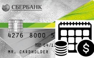 Как работает льготный период кредитной карты Сбербанка?