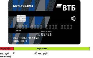 Кредитный лимит на зарплатной карте ВТБ