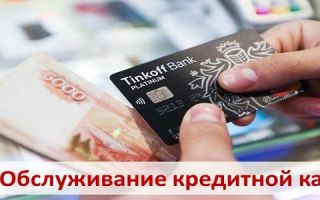 Обслуживание кредитной карты Тинькофф