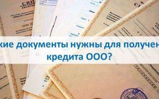 Какие документы нужны для получения кредита ООО?