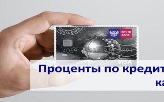 Проценты по кредитной карте Почта Банка