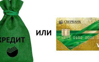 Что лучше кредит или кредитная карта Сбербанка?