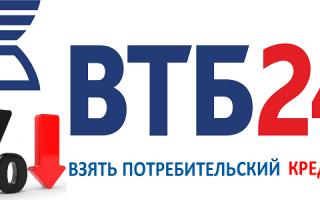 Как взять кредит в банке ВТБ 24 под маленький процент