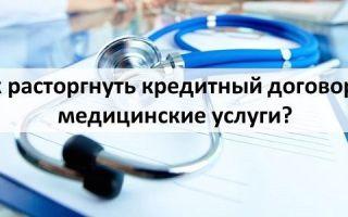 Как расторгнуть кредитный договор на медицинские услуги?