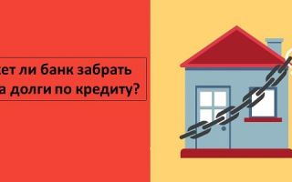 Может ли банк забрать дом за долги по кредиту?