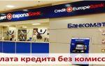Оплата кредита в Кредит Европа Банке без комиссии