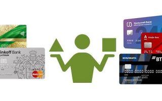 Сравнение условий кредитных карт разных банков