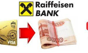 Процент за снятие наличных с кредитной карты Райффайзенбанка
