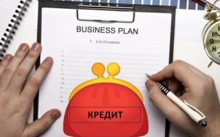 Кредит под бизнес план с нуля