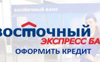 Оформить кредит в Восточном Банке через интернет