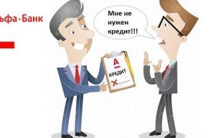 Отменить заявку на кредит в Альфа-Банке