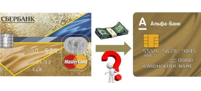 Как перевести деньги с кредитной карты Сбербанка на карту Альфа Банка?