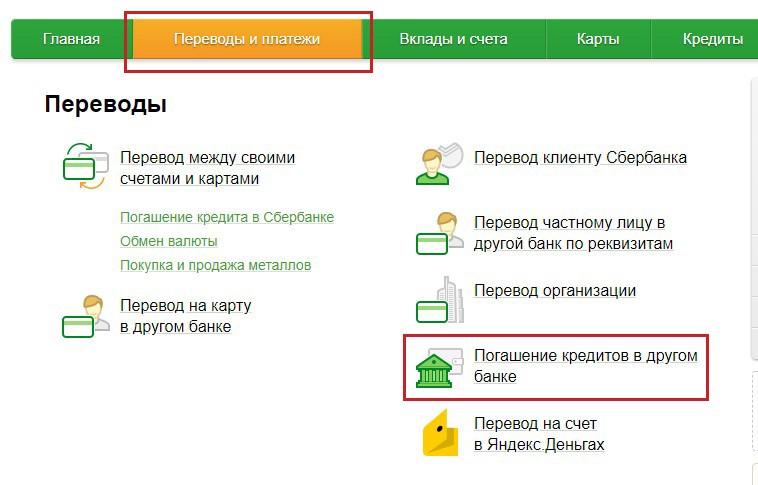 погашение кредита ВТБ 24 через Сбербанк_1