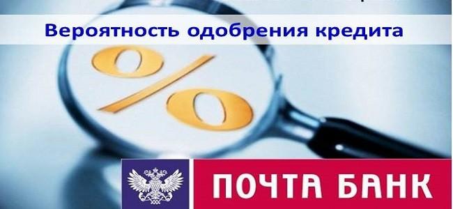одобрение кредита в ПочтаБанке
