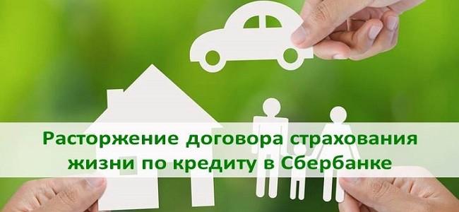 расторжение договора страхования жизни по кредиту в Сбербанке