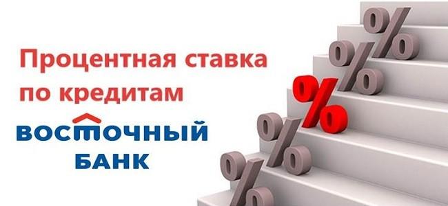 проценты по кредиту Восточный банк