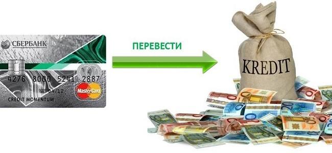 Как кредитную карту перевести в потребительский кредит Сбербанка