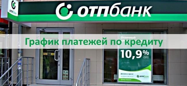 График платежей по кредиту ОТП Банка