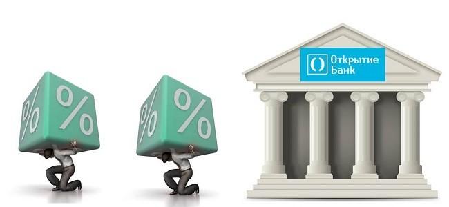 Процентная ставка по потребительскому кредиту в банке Открытие