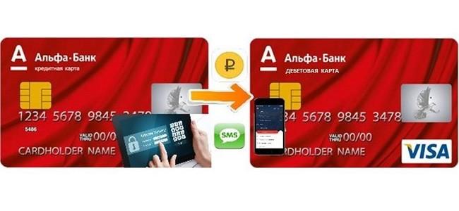перевод с кредитной карты альфа банка на карту альфа банка