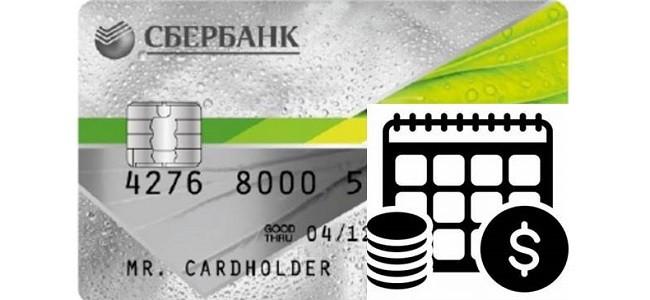 Как работает льготный период кредитной карты Сбербанка