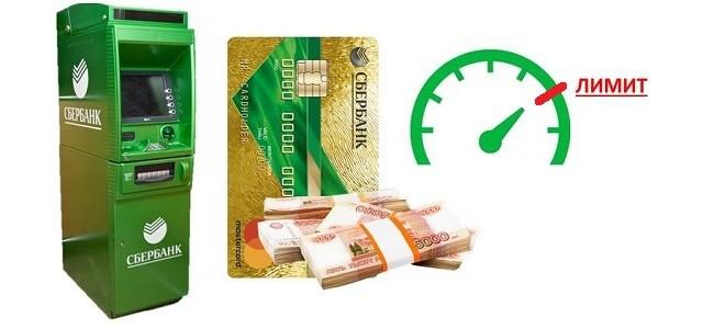 Лимит снятия наличных с кредитной карты Сбербанка в банкомате