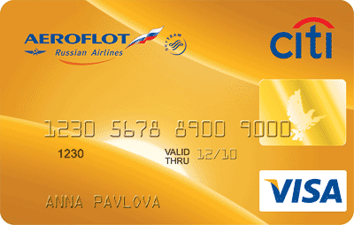 Аэрофлот Ситибанк Visa