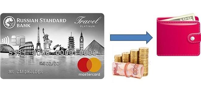 Процент за снятие денег с кредитной карты Русский Стандарт