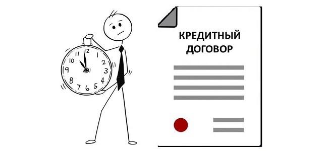 Срок действия кредитного договора при неуплате