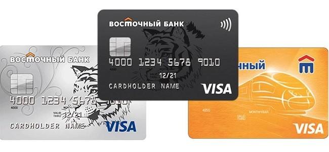 Тарифы кредиток Восточного Банка