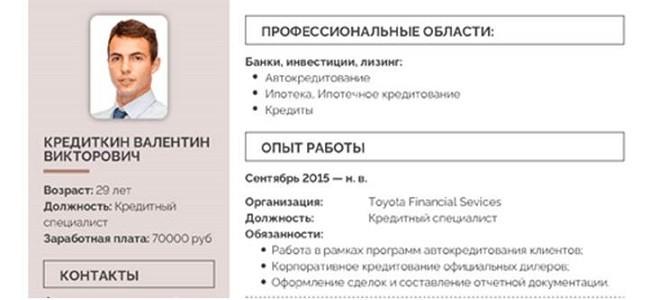 Функциональные обязанности кредитного специалиста для резюме