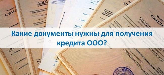 Какие документы нужны для получения кредита ООО